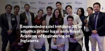 3ie entrepreneur is awarded first place royal academy of engineering in england