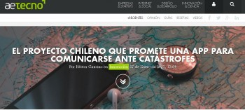 The Chilean project promising to communicate in disasters